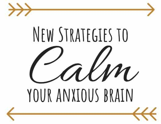 anxiety reduction strategies