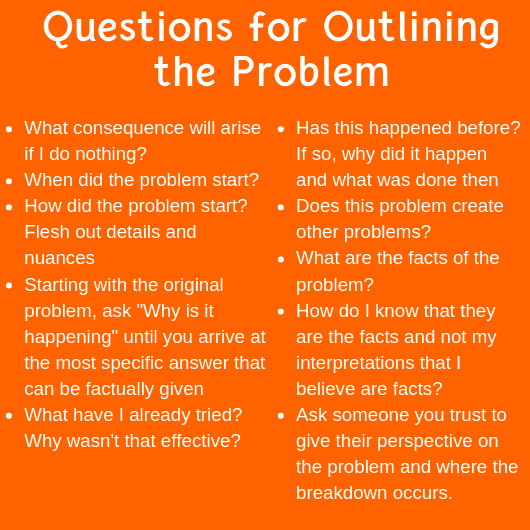 questions problem solving tools
