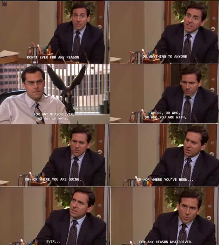 ADHD losing attention while talking The Office