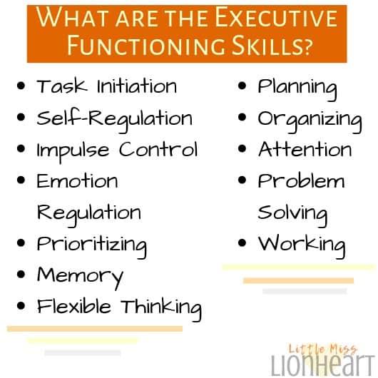 Executive function ADHD