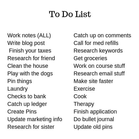 how to get things done ADHD to do list