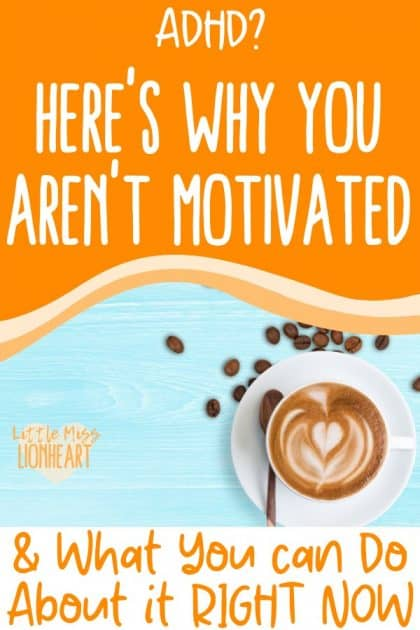 When you have ADHD, procrastination is a real struggle. Here is how to get motivated when you have ADHD and be more productive. #ADHD #ADHDwomen #ADHDproblems